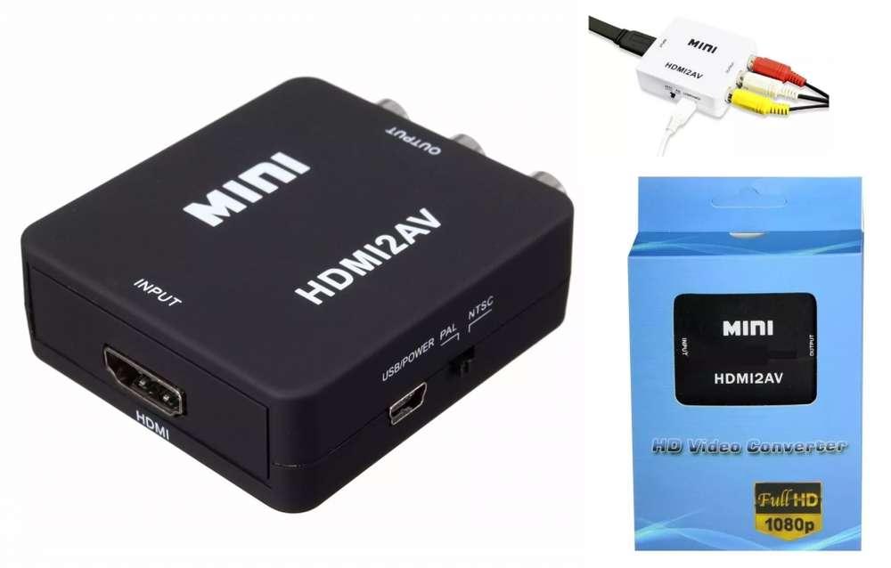 Conversor Adaptador Hdmi A Rca Notebook Tv Tubo Proyector RCA A HDMI VGA A HDMI VGA A RCA HDMI A VGA