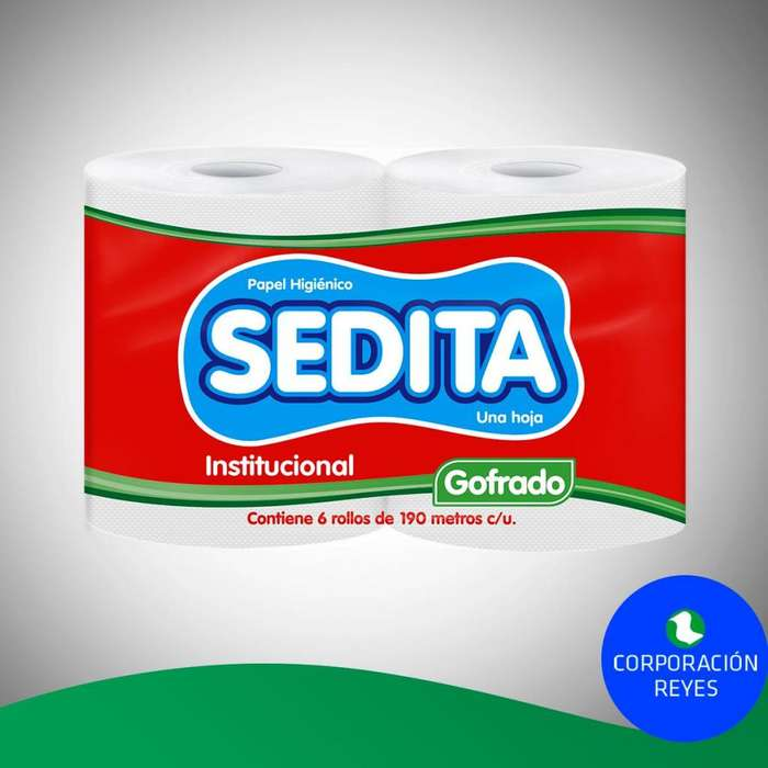 "Papel Higiénico Institucional Sedita ""Gofrado"" X6 Unds."