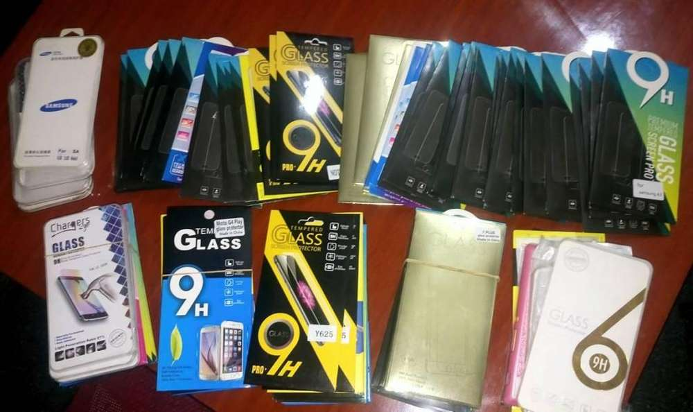 Liquido Pack protectores vidrio templado Samsung, Motorola, iphone, LG, Huawei