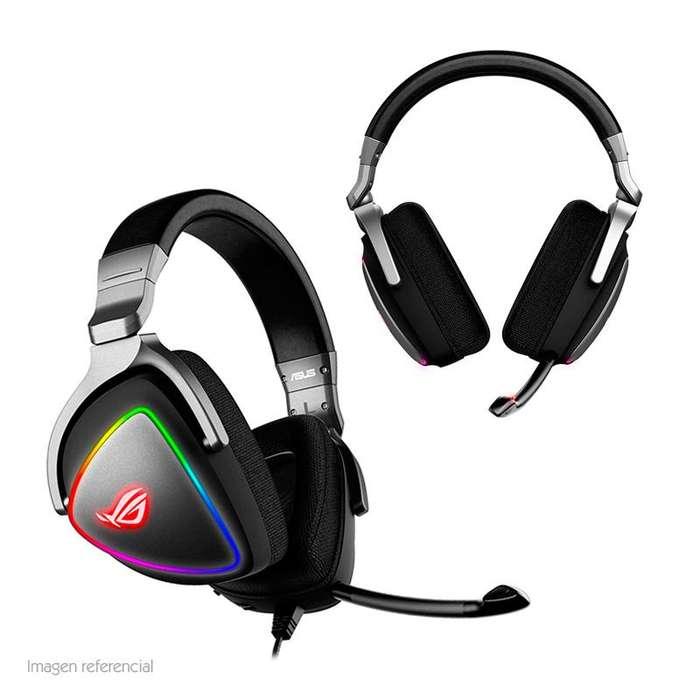 Auriculares Gamer Asus ROG Delta RGB micrófono desmontable