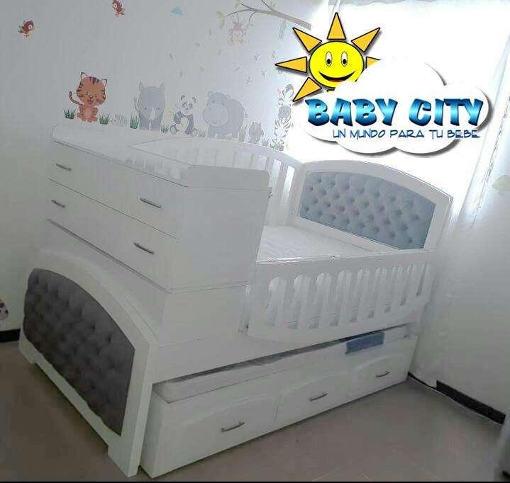 cama cuna capitoneada 1 por 190