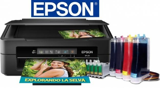 Epson Xp 231/241 con Sistema de Tinta Continuo Chipless