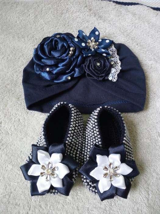 Hermosos Turbantes con Zapatos para Bebé