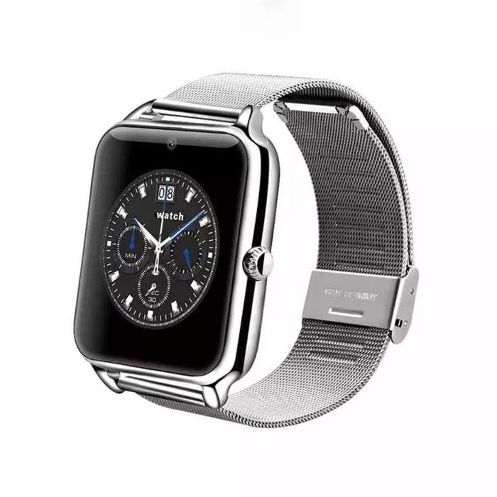 Reloj Telefono de Acero Inoxidable Z60