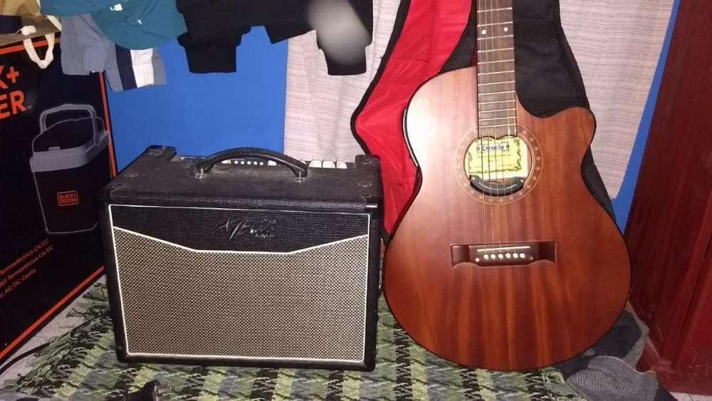 Guitarra Electroacústica Amplificador