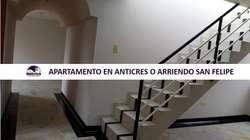 131A APARTAMENTO EN ARRIENDO O ANTICRES SAN FELIPE