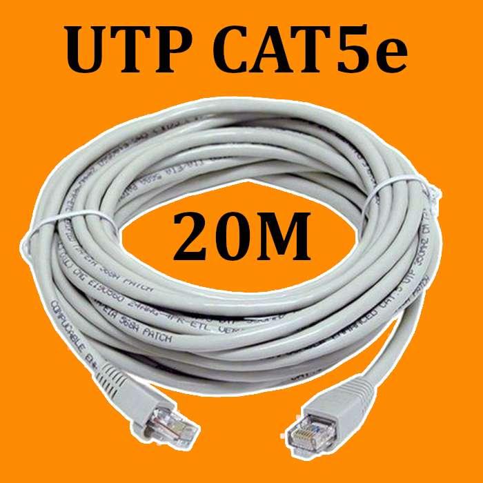 20 Metros Cable Internet Red Utp Cat 5e