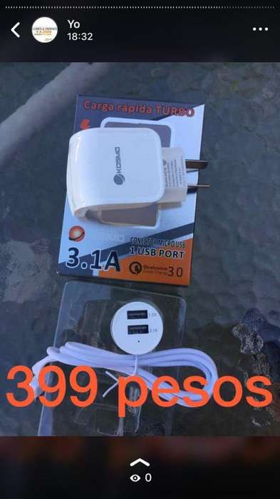 TURBO CARGADOR AUTO USB GARANTIA NUEVOS