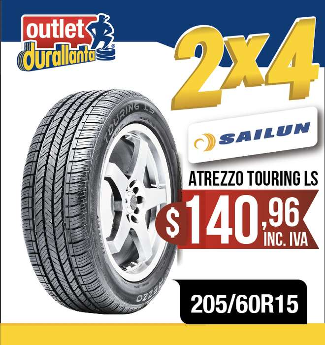 <strong>llanta</strong>S 205/60R15 SAILUN ATREZZO TOURING LS New Carens FOX CROSSFOX PASSAT CC New Carens LX