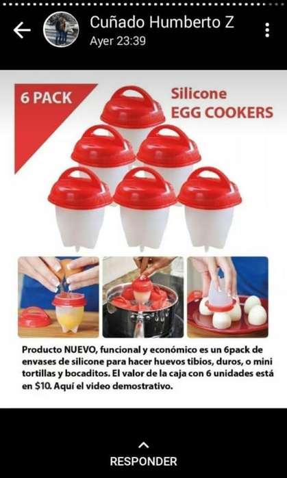Siliconas para Hervir Huevos 6 Unidades