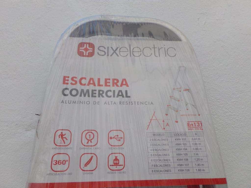 2 Escalera aluminio SIX ELECTRRIC