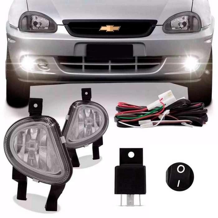 Kit de <strong>faros</strong> auxiliares rompe niebla Chevrolet corsa