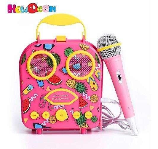Altavoz Bluetooth Para Niños Altavoz Para Karaoke Microfono