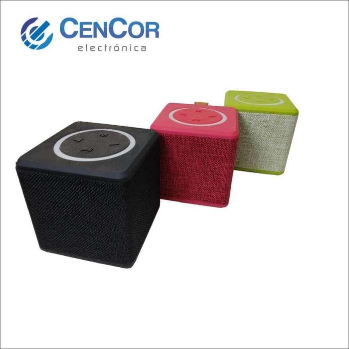 Parlante Portatil Cubo! Bluetooth/usb/microsd/aux! Cencor Electrónica