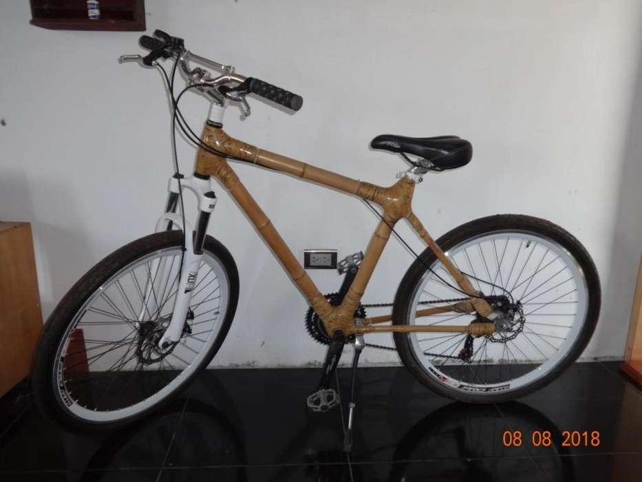 Fabulosa Bicicleta con Marco de Bamboo
