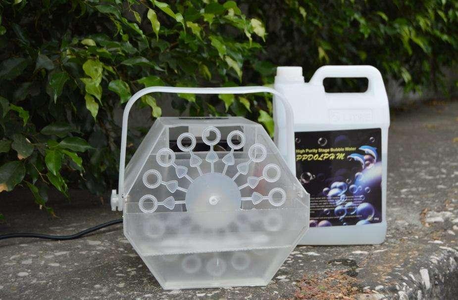 Maquina de Burbujas Con Luces LED intermitente