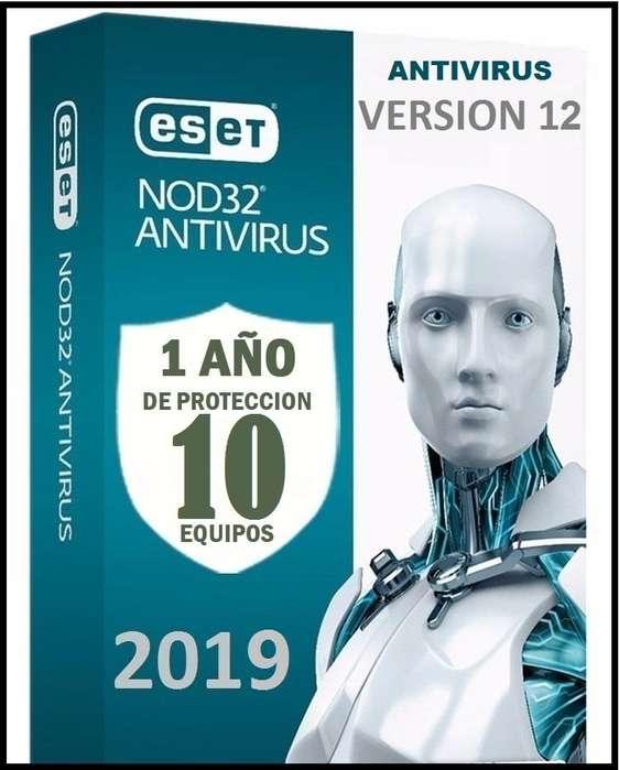 Eset Nod32 Antivirus Licencia original 10 equipos 1 Año