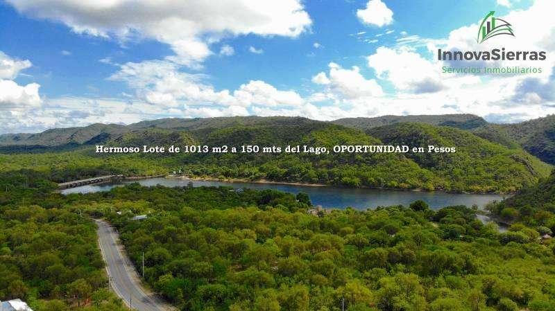 Venta Hermoso Lote de 1000 m2 a 400 mts del Lago, OPORTUNIDAD EN PESOS