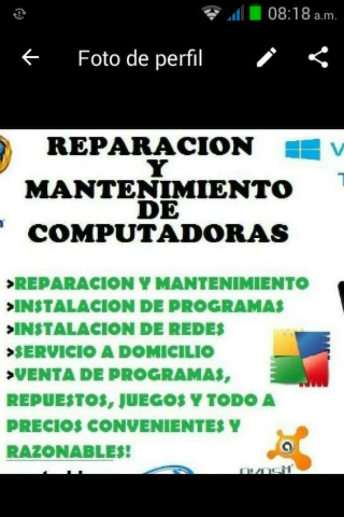 Se Arregla Toda Clase de Computadores