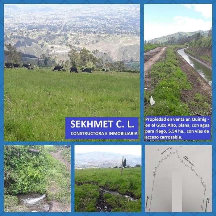 Propiedad en venta en el Guzo Alto - Quimiag, 5.54 ha