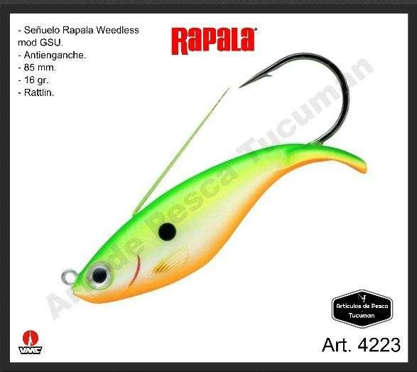 Señuelo Rapala Weedless Shad antienganche. Articulos de Pesca Tucuman. 4223