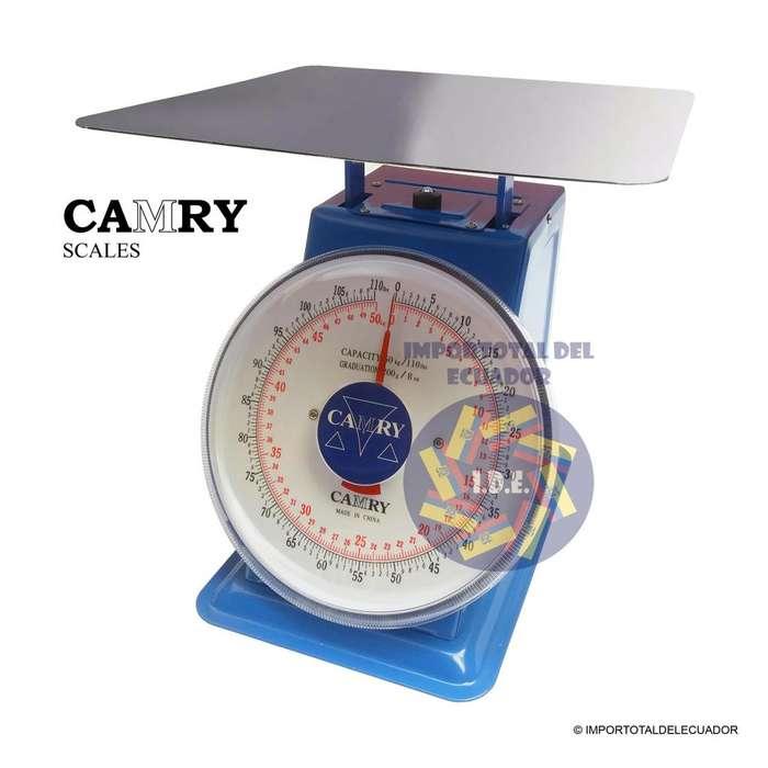Balanza mecánica ''nueva'' tipo reloj de mostrador plataforma alta marca Camry certificación ISO9001 / 50 kg ó 110 lb