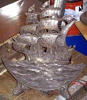 Importante Carabela Occidental barco velero en Bronce muy Decorativo Hay otros adornos paraver