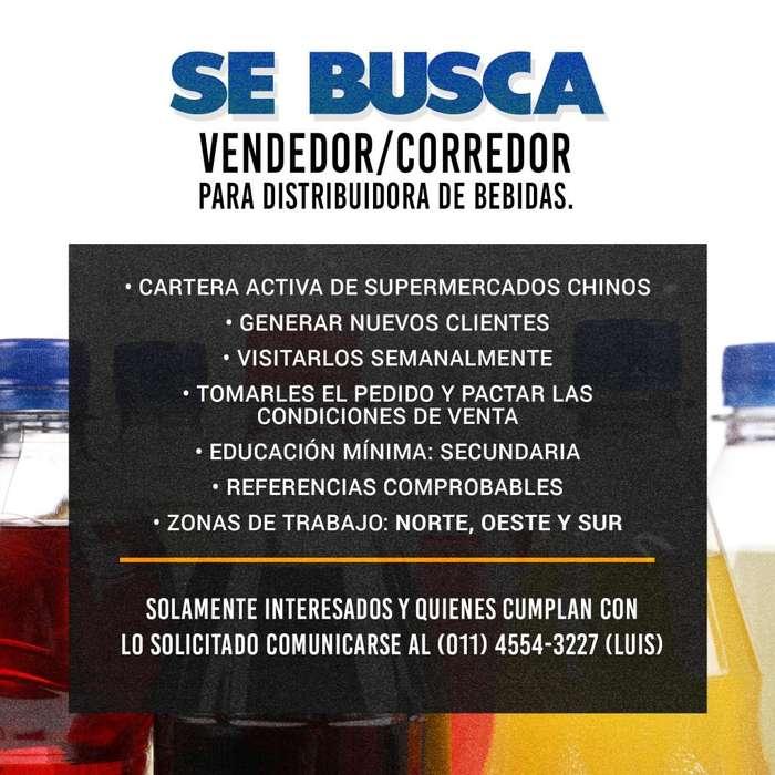 SE BUSCAN VENDEDORES / CORREDORES