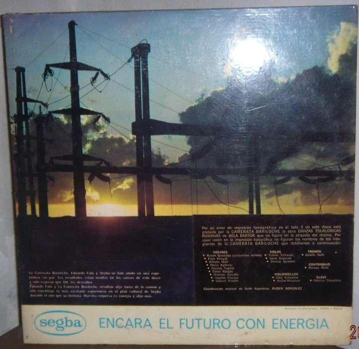 Disco De Vinilo L P Promoción Segba Camerata Bariloche