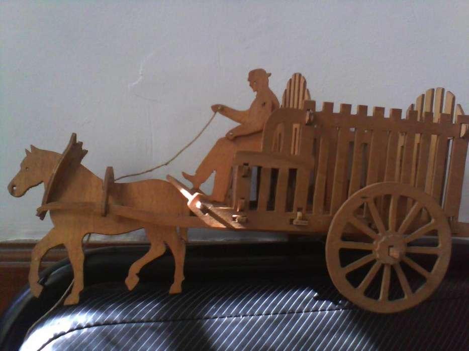Hermosa carreta con caballo y jinete 400