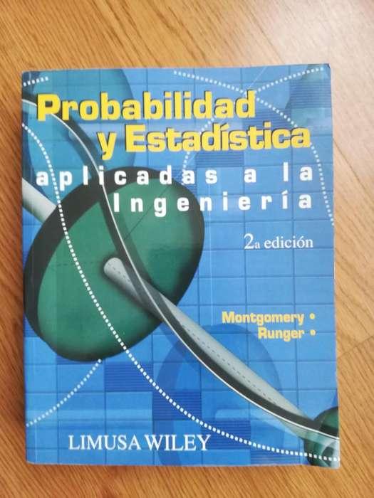 Libro de Texto Probabilidad y estadistica aplicada a la ingenieria Montgomery Runger 2da edición
