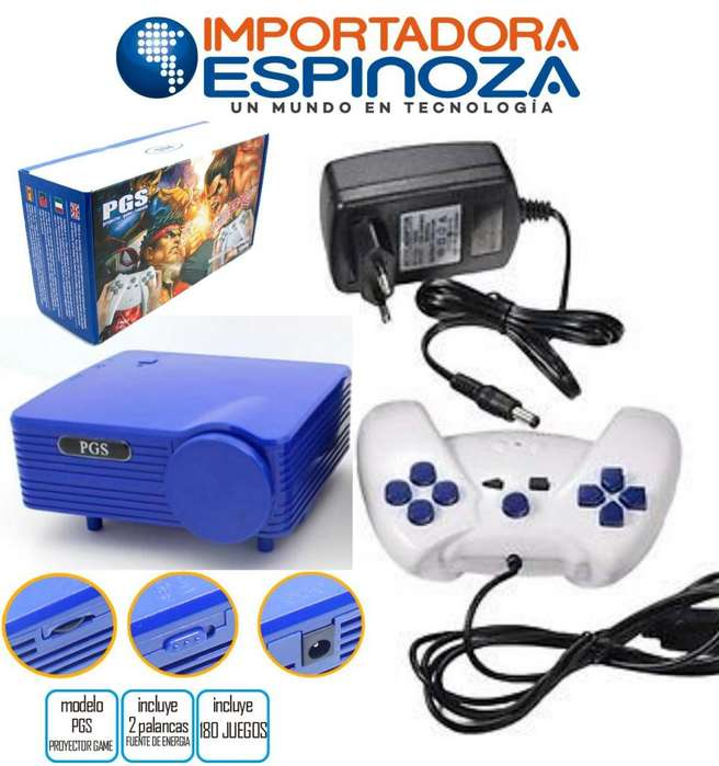 Mini Consola De Proyeccion Retro Tipo Nintendo 180 Juegos