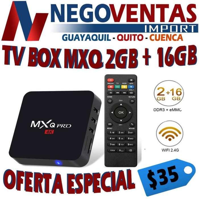 TV BOX MXQ 2 GB Y 16 ALMACENAMIENTO 4K CONVIERTE A TU TV EN SMART TV DE OFERTA
