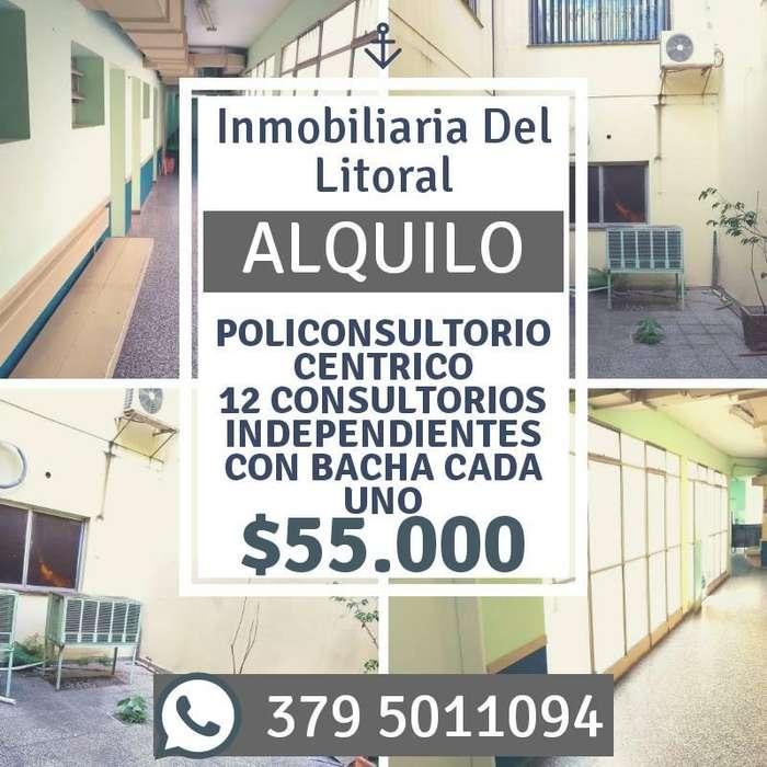 !!! ALQUILO !!! 12 POLICONSULTORIOS CÉNTRICOS