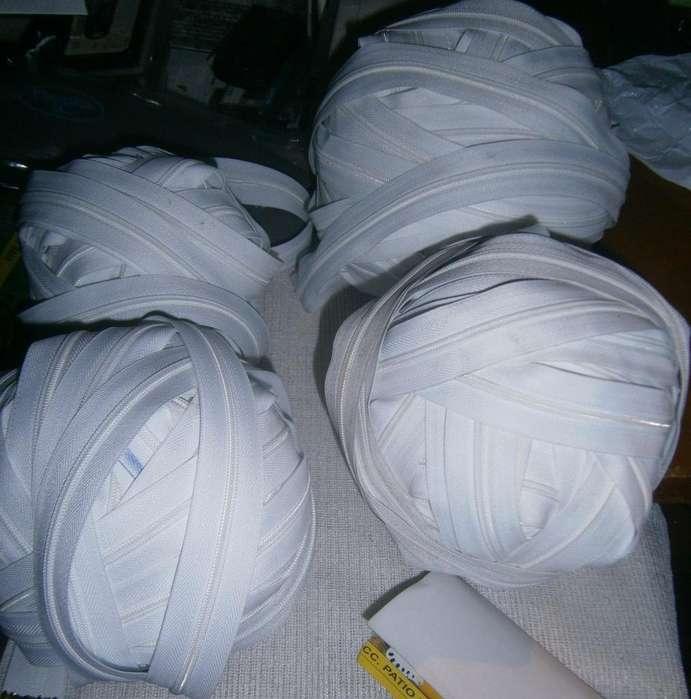Cierres blanco por bolas de nn cantidad de metros a 10mil cada bola
