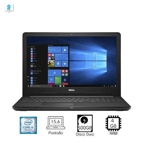 Laptop Dell Inspiron 15 3000 i3-7100U 4GB RAM 500GB DVD 15.6
