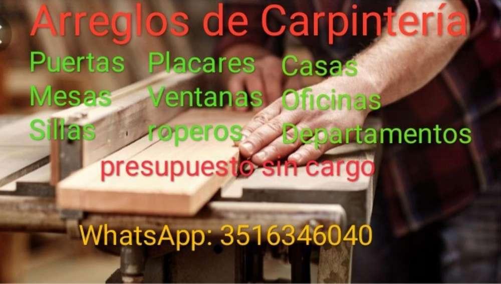 Arreglos de Carpintería en General