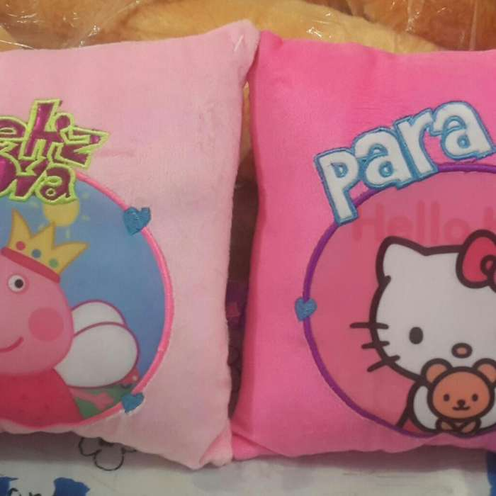 Cojin Infantil Peppa Pig & Hello Kitty