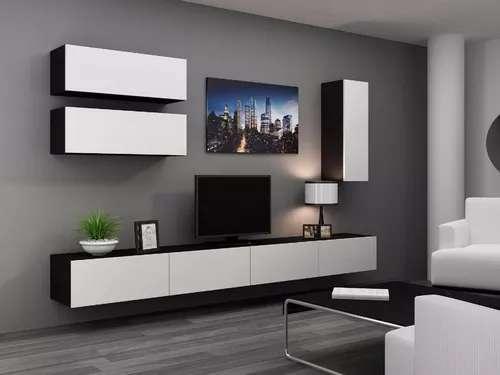 MESA RACK MODULAR PARA TV LCD LED Y VAJILLEROS. CARPINTERÍA NOAH