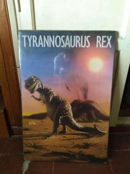 Cuadro dinosaurio para niños