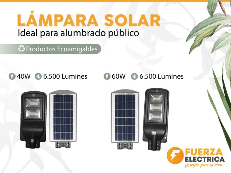 lampara solar estilo alumbrado publico