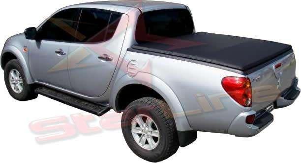 Carpa Plana Mitsubishi Sportero Lona Con Marca Enrollable Riel Aluminio Camioneta Ref MC139 ¡Envío Gratis!