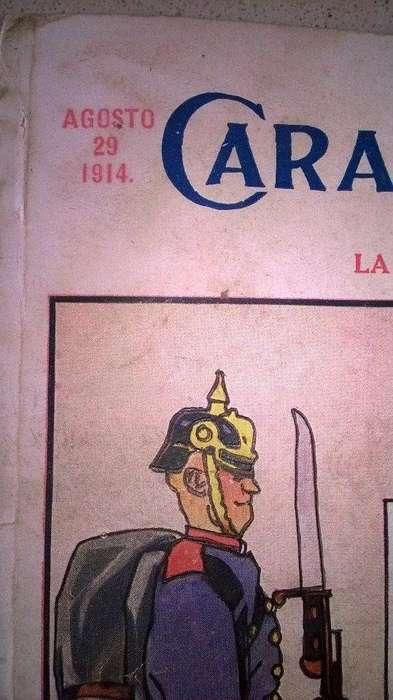 Revista. Caras y caretas. Primera guerra mundial.