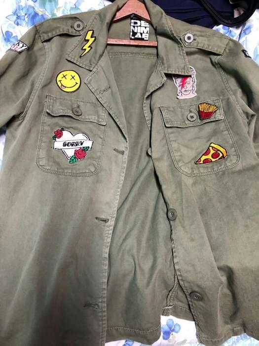 Casaca Verde Militar Denimlab