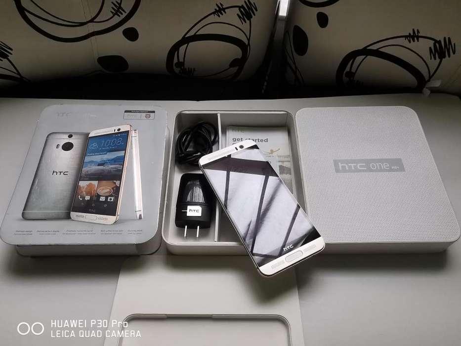 HTC M9 Plus caja accesorios factura, como NUEVO