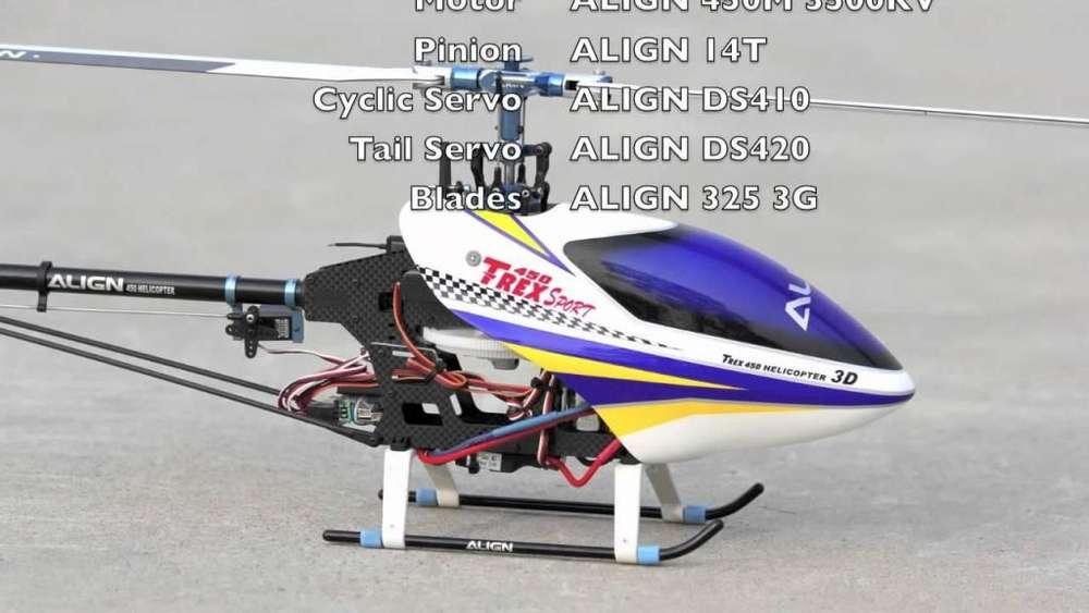 rc helicoptero trex 450