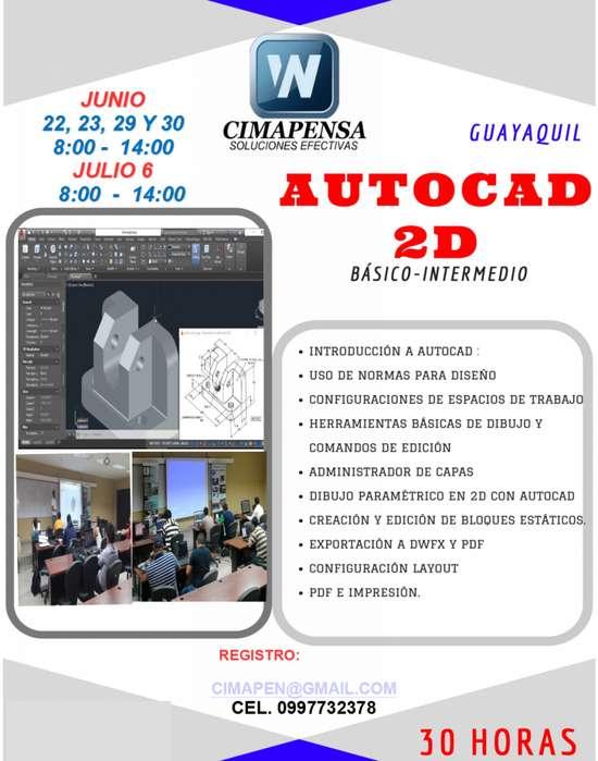 CAPACITACIÓN PROFESIONAL EN <strong>autocad</strong> 2D NIVEL BÁSICO-INTERMEDIO