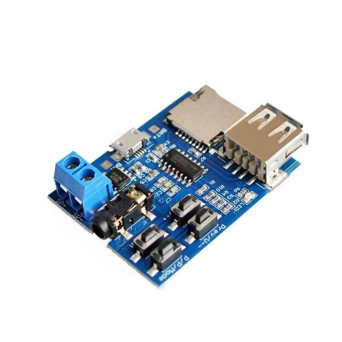 Reproductor Mp3 Modulo Decodificador 3watt Soporta Tf Card
