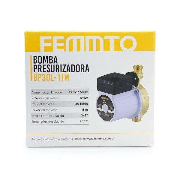 Bomba Presurizadora Elevadora Agua Presion 11 Metros Bronce