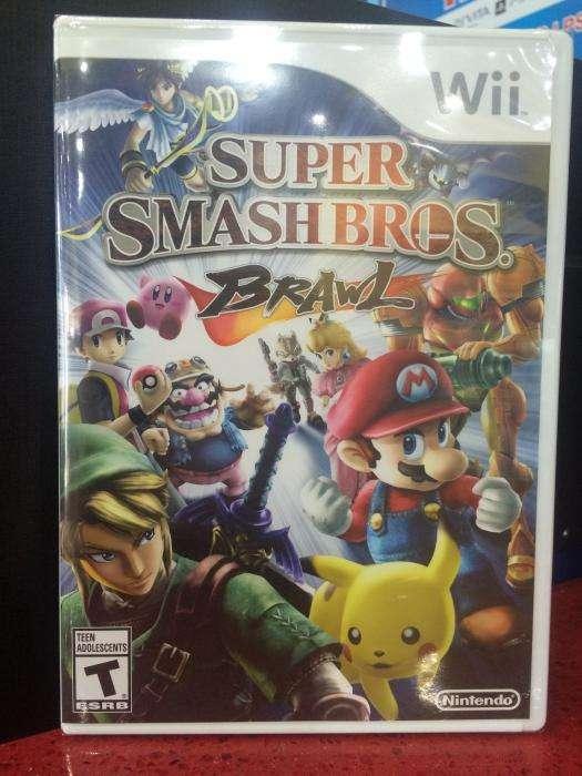 Super Smash bros brawl juego disco de nintendo wii